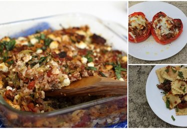 Easy Family Meals: How to Make Three Dinners Out of Ground Beef, Rice and Tomatoes