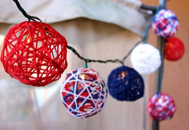 How to Make Patriotic String Lights for the Fourth of July
