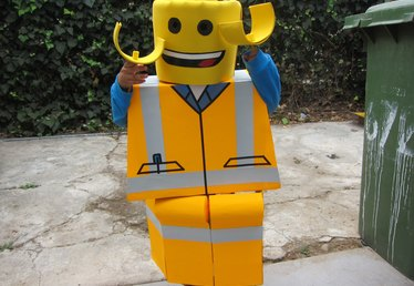 How to Make a LEGO Construction Worker Costume