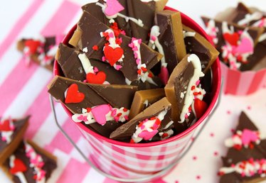 Homemade Valentine's Day Toffee
