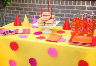 Dress Up Your Party Table in a Flash with a DIY Polka-Dot Tablecloth
