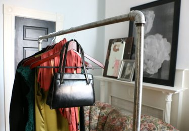 Loft Style: DIY Industrial Chic Garment Rack
