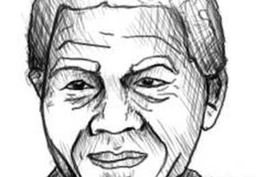 How to Draw Nelson Mandela's Face