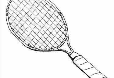 How to Draw a Tennis Racquet