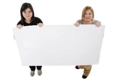 How to Use Material on Poster Board