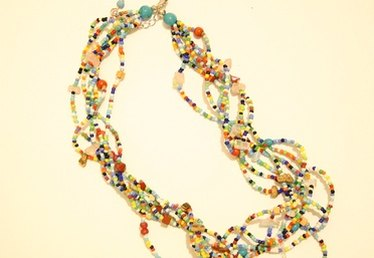 How to Make a Twisted Bead Strand Necklace