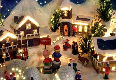 How to Build a Christmas Village Platform