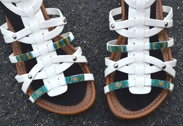 Make Your Own Beaded Strappy Sandals With This Easy Embellishing Technique