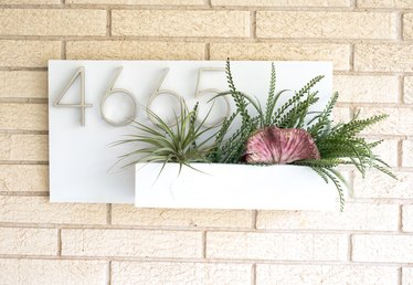 How to Make an Address Plaque Using Succulents