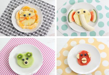 Animal-Shaped Fruit Snacks Ideas