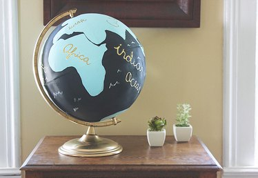 DIY Painted Globe (With Free Templates)