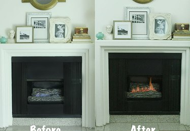 How to Make a Gas Fireplace More Like a Wood-Burning One