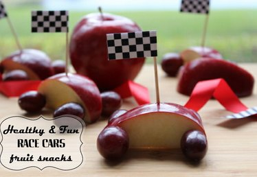 How to Make Fruit Race Cars for Kids