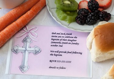 Baptism Party Menu Ideas