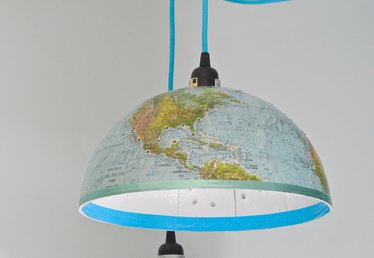 How to Make a Pendant Light Out of a Classroom Globe