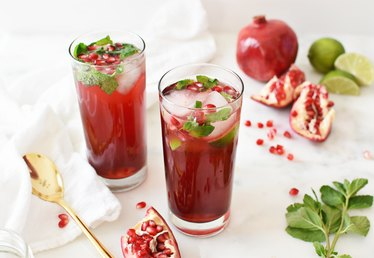 How to Make Pomegranate Mojito Mocktails for Your Next All-Ages Party