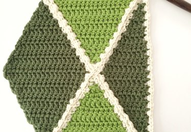 How to Crochet a Diamond Section
