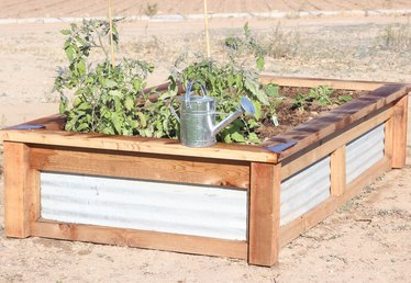 How to Build Raised Garden Beds With Corrugated Metal