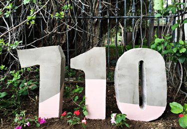 How to Make Painted House Numbers from Cement Mix