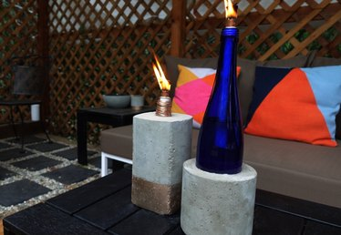 DIY Concrete Tiki Torches