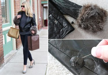 DIY Removable Faux Fur Cuffs