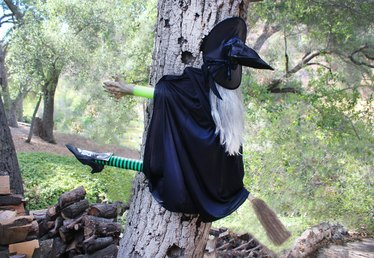 How to Build a Halloween Witch Hitting a Tree