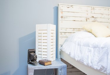 How to Make a Table Lamp From Shutters