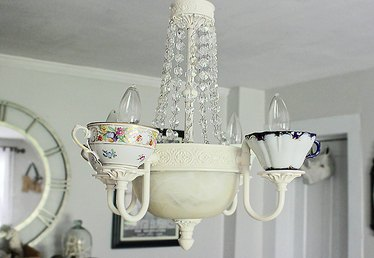 How to Make Your Own Teacup Chandelier