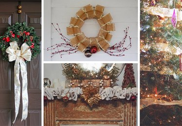 How to Decorate for Christmas With Sinamay Mesh