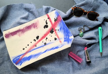 DIY Artsy Canvas Pouch