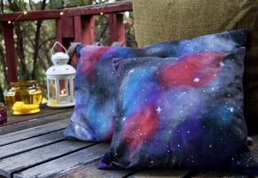 How to Paint a Galaxy Design on Cushion Covers