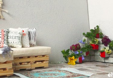 DIY Concrete Block Planter