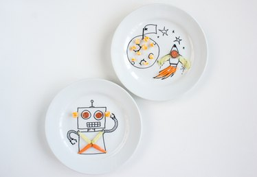 Create Cute Dinner Plates for Kids with These Sweet Drawings