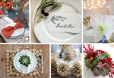 12 DIYs for a Gorgeous Holiday Table Setting