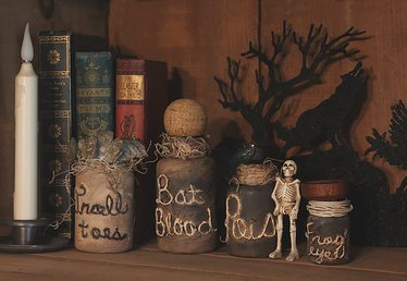 How to Make Spooky Witch's Jar/Bottle Potion Decorations