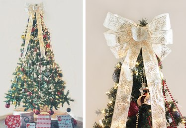 How to Make a Christmas Tree Topper Bow