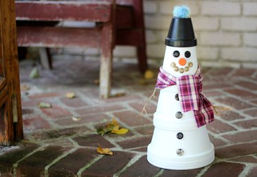 Clay Pot Snowman Tutorial