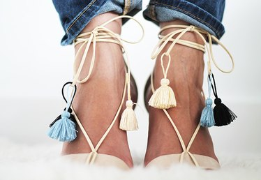 How to Turn Your Ankle-Strap Sandals Into Lace-Up Sandals