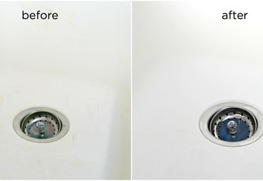 How to Clean a White Sink Tutorial (and Remove Stains, Too)