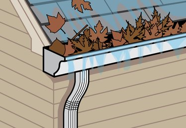 How to Clean Clogged Rain Gutter Downspouts