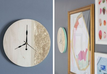 DIY Gold Leaf Clock