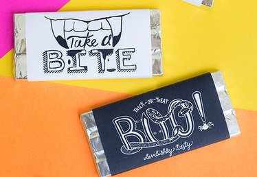 Free Printable Chocolate Bar Wrappers for Halloween