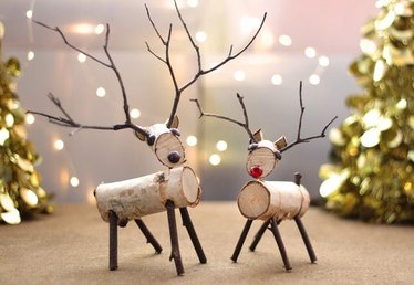 How to Make a Birch Wood Reindeer