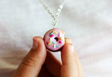 How to Make a Polymer Clay Doughnut Charm or Ring