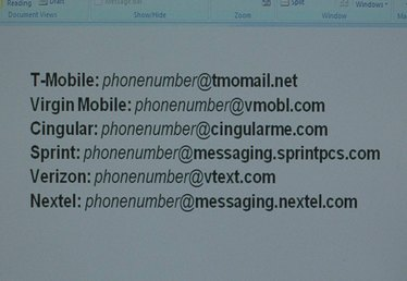 How to Send a Text Message Using E-Mail