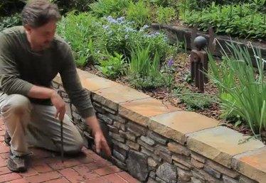 Building a Small Landscape Retaining Wall