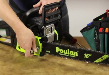 How to Install a Chain on a Poulan Chainsaw