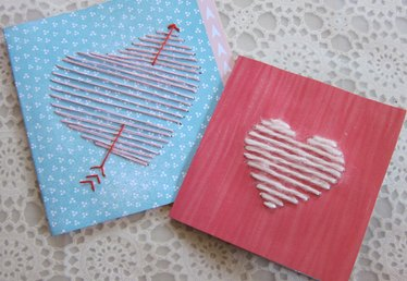 Yarn Heart Cards