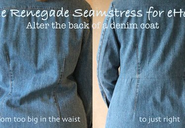 Simple Alteration=Big Change for a Denim Coat