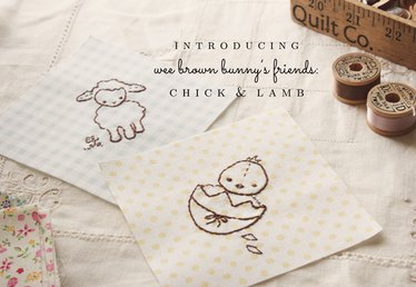 Wee Brown Bunny's Friends: Chick and Lamb
